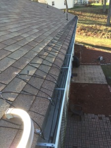 Heat Wire Installation in Gutters